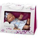 Panenka miminko vonící 26 cm - Růžové šaty 3