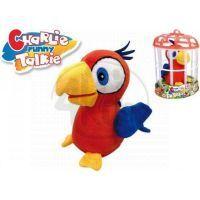 Papoušek Charlie opakující slova