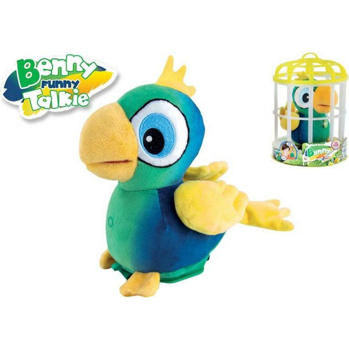 Papoušek Benny opakující slova