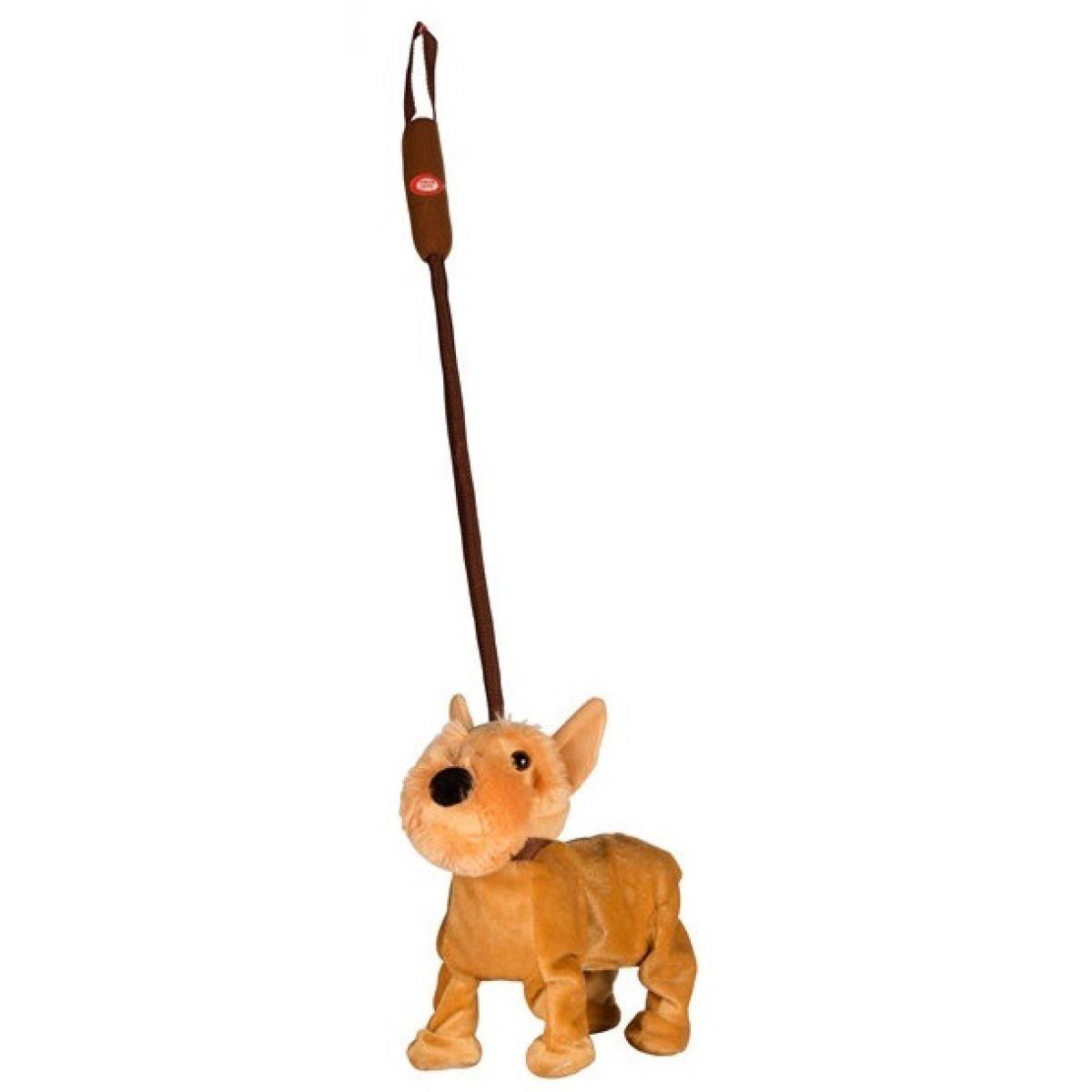 Pes na tyčce 25 cm - Hnědý foxteriér
