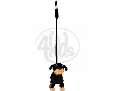 Pes na tyčce 25 cm - Černý dobrman