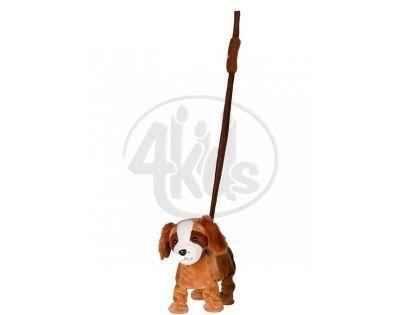 Pes na tyčce 25 cm - Hnědý bígl