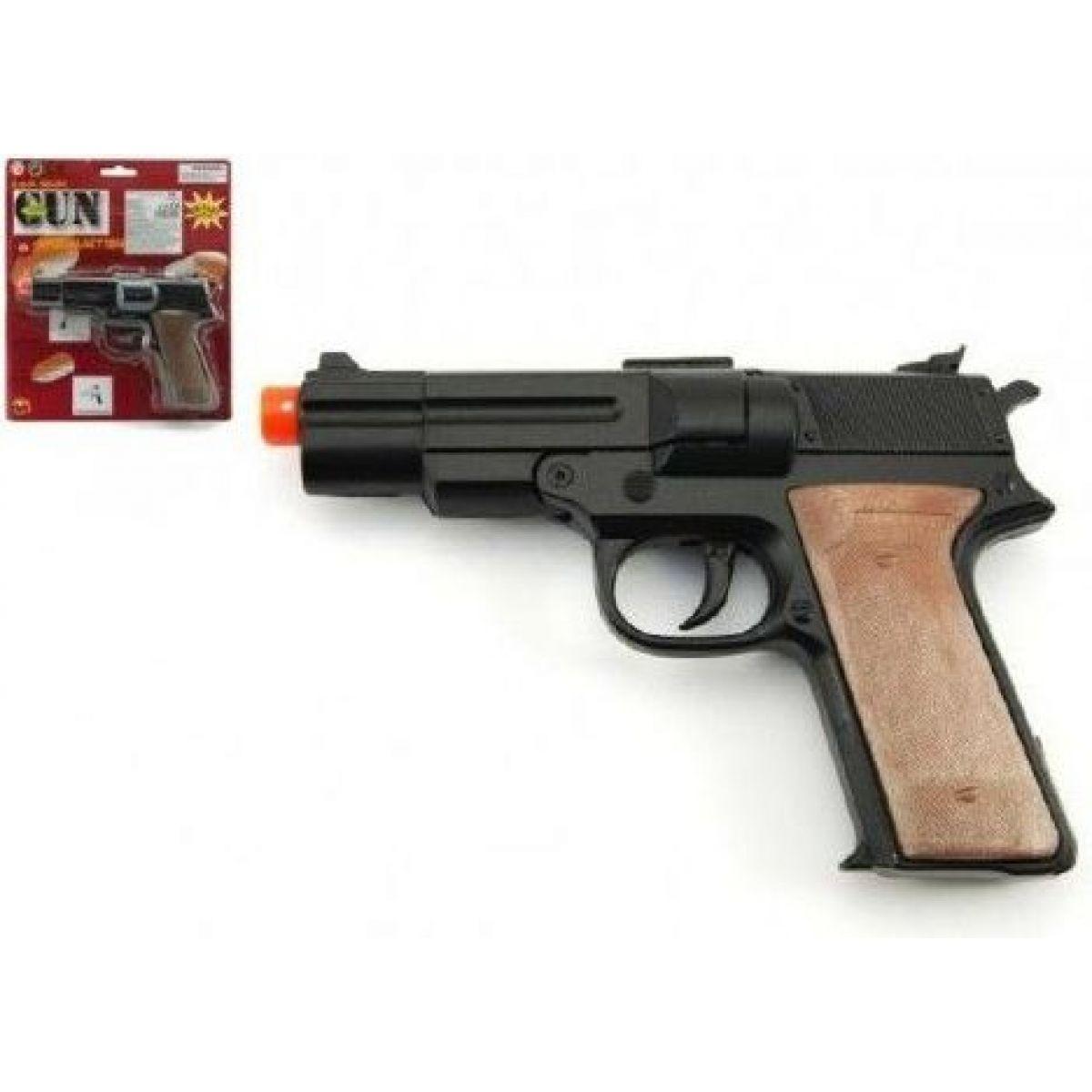Rock David pistole na kapsle kov 14 cm 8 ran na kartě