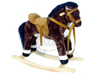 Kůň houpací plyšový hnědý