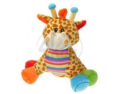 Plyšové zvířátko sedící 28 cm - Žirafa