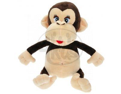 Teddies Opice Pepina plyšová 26cm mluvící