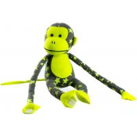 Plyšová opice svítící ve tmě šedožlutá 33cm