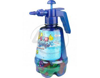 Pumpa a vodní bomby 100ks - Modrá