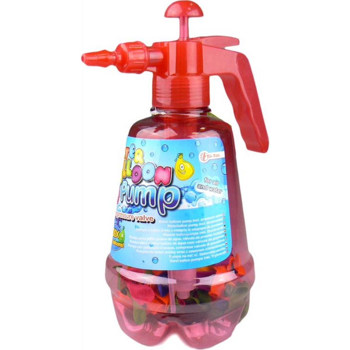 Pumpa a vodní bomby 100ks - Červená