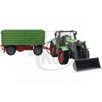RC Traktor s nakladačem a vlečkou 1:28