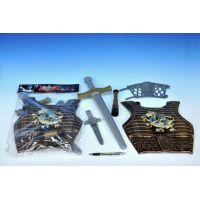 Rytířská sada brnění plast meč 50 cm