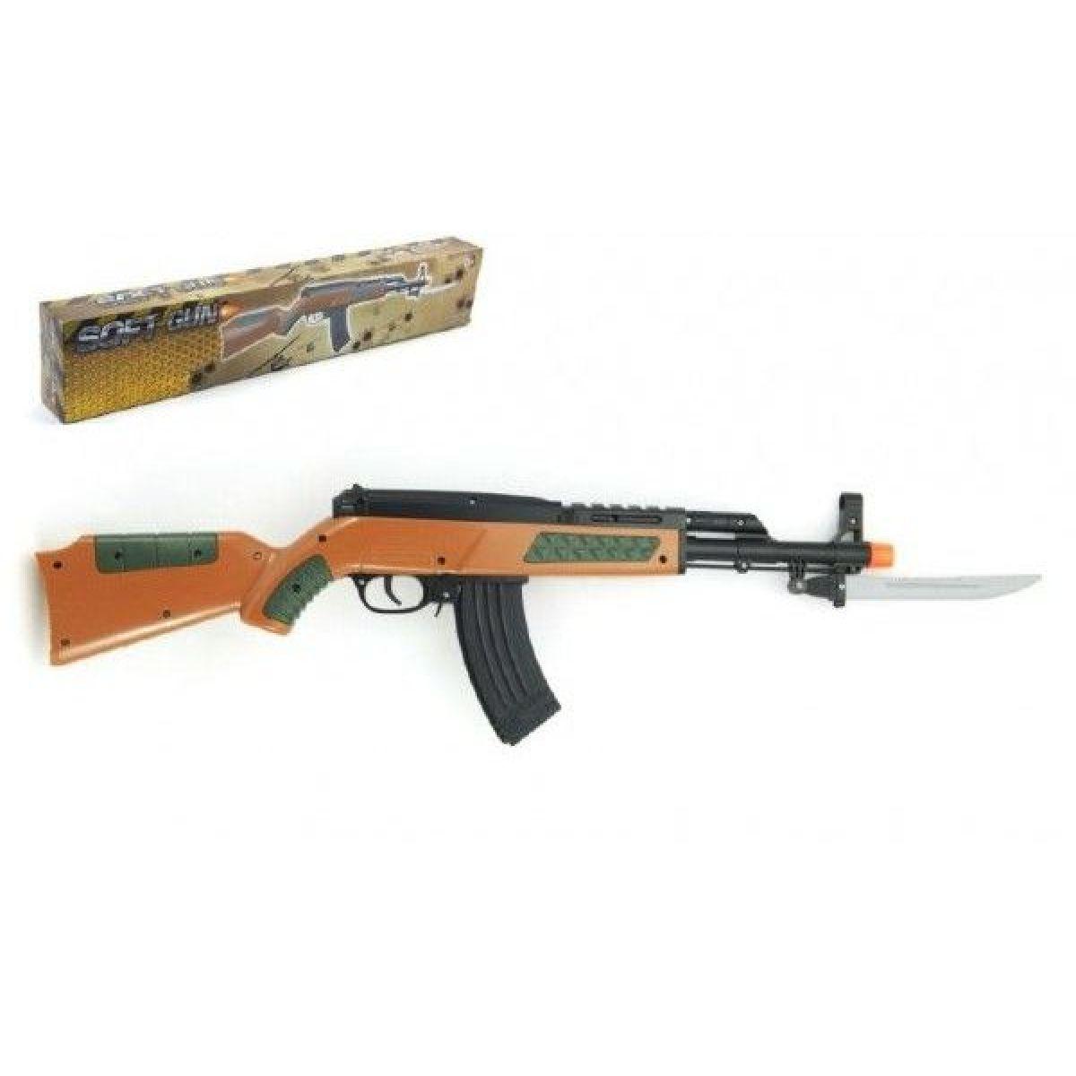 Teddies pistole samopal na kuličky 56 cm plast v krabici TEDDIES