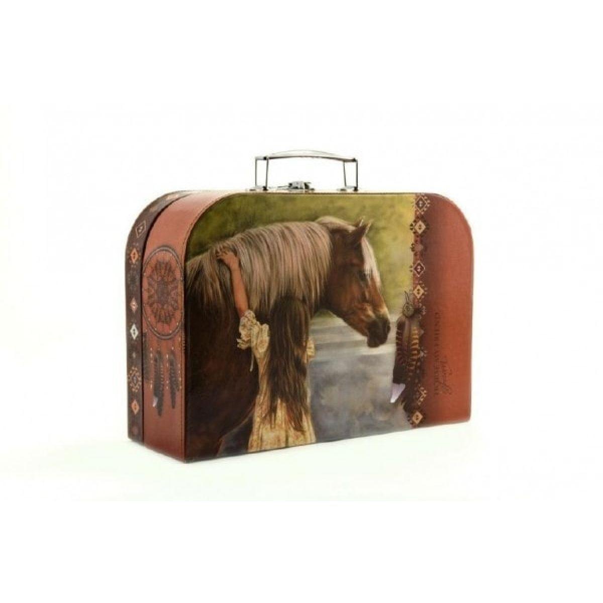 Šitý Kufřík Kůň s dívkou 30 cm