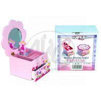 YUPEE 00100024 - Dřevěná hrající skříňka Princess se šuplíčkem
