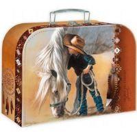 Školní kufřík 35 cm malý kovboj a kůň