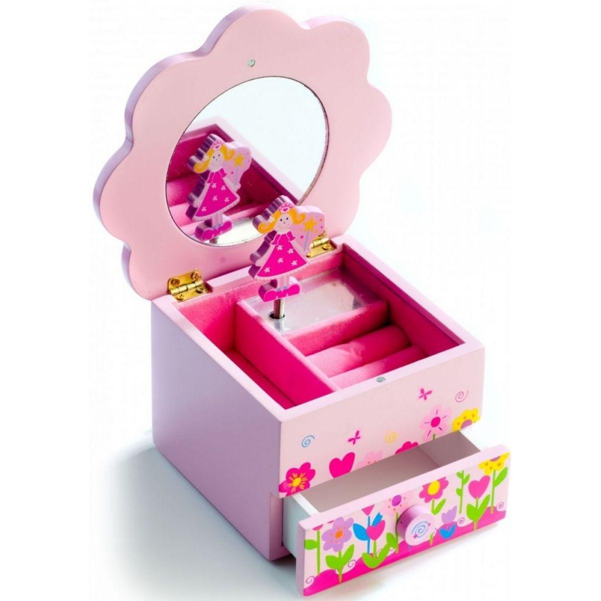 Dřevěná hrající skříňka Princess se šuplíčkem