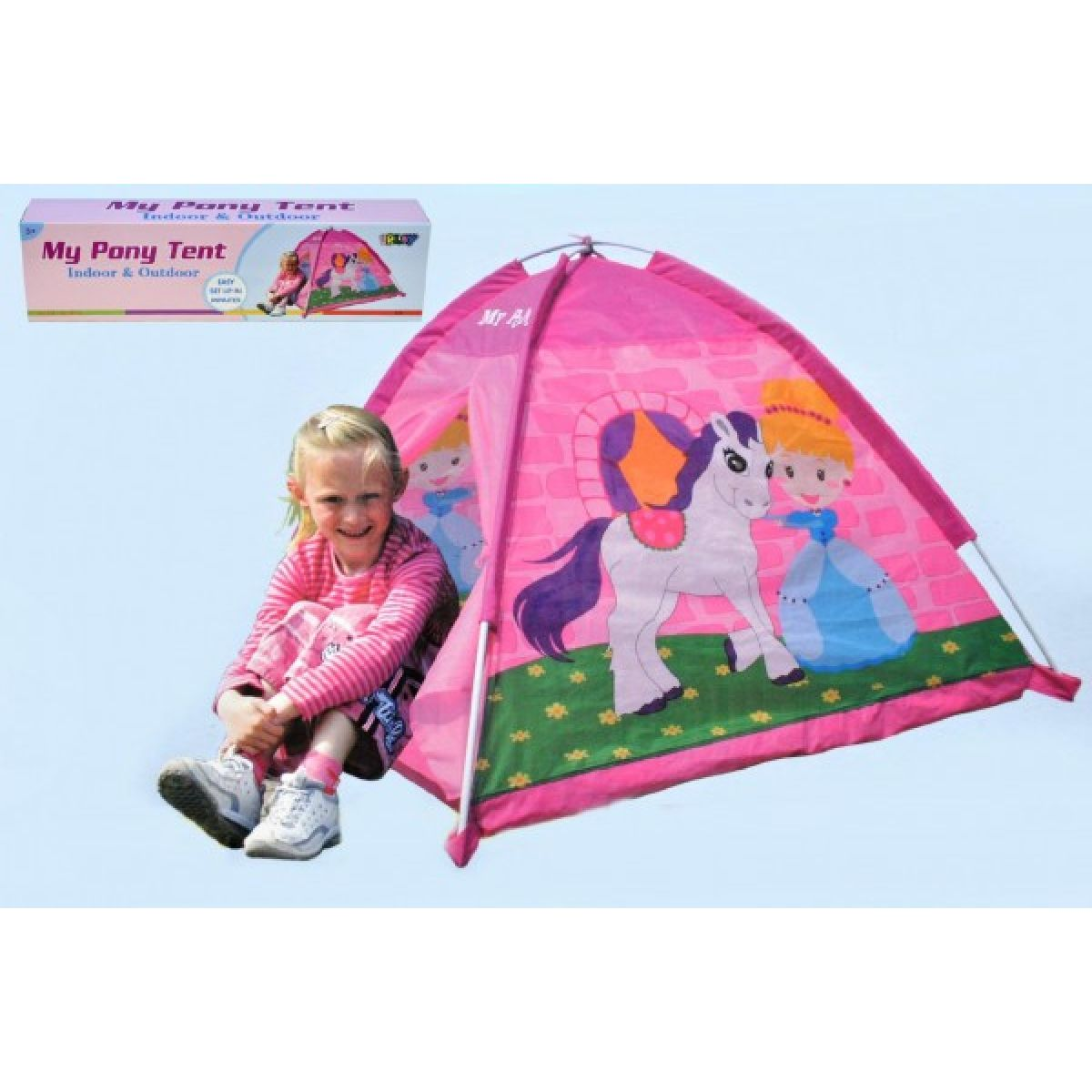 Stan pro děti s koníkem 112x112x94cm