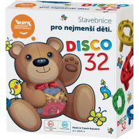 Teddies Stavebnice Disco 32ks plast v krabici 15x17cm