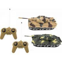 Teddies Tank RC 2ks 25cm tanková bitva na baterie se zvukem se světlem - Poškozený obal