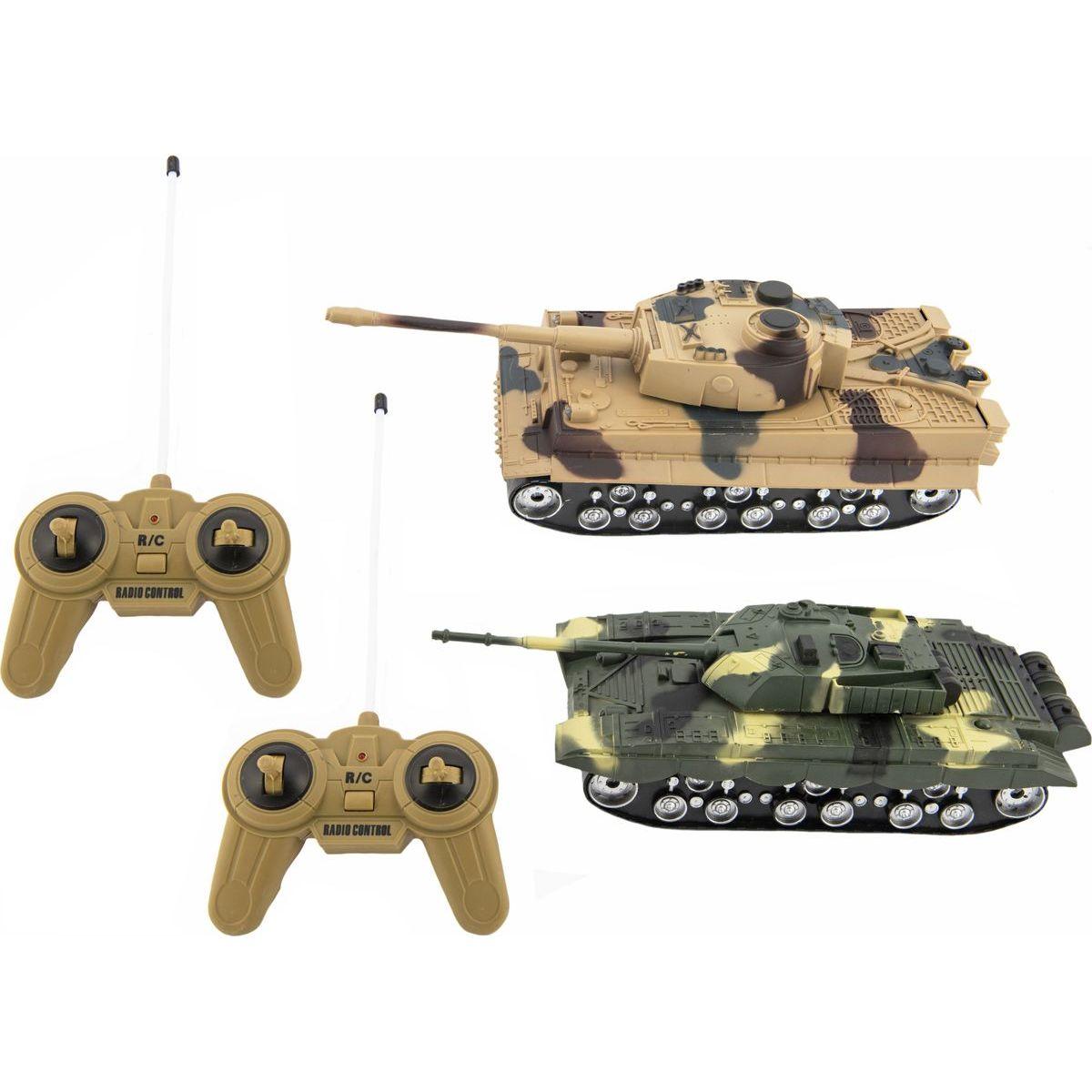 Tank RC 2ks 25 cm tanková bitva na baterie se zvukem se světlem