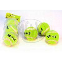 Teddies 1205/TBB-3 - Gumový míček v designu tenisového míče 3ks v sáčku