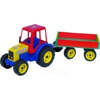 Teddies 56220009 - Traktor Farmer XXL s vlekem plast 69 cm v sáčku