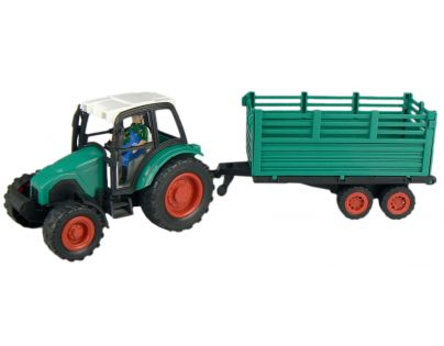 Traktor s vlečkou na setrvačník - Zelená