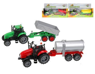 Kids GLOBE 510653 - Traktor s vlečkou se světlem a zvukem 25 cm