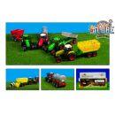 Kids GLOBE 510653 - Traktor s vlečkou se světlem a zvukem 25 cm 3