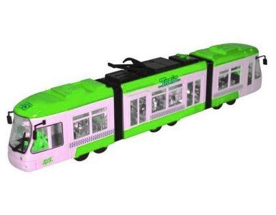 Teddies Tramvaj na baterie 45 cm - Zelená