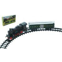Vlak na baterie s kolejemi se zvuky a světly