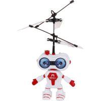Vrtulník vesmírný letec 15 cm se senzorem - Červená