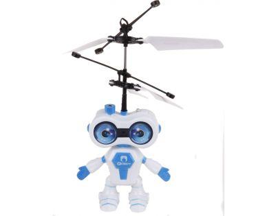 Vrtulník vesmírný letec 15 cm se senzorem - Modrá