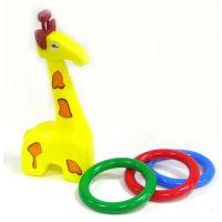 Žirafa plast 33 cm s kroužky od 18 měsíců