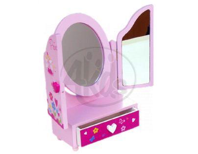 YUPEE 00100001 - Zrcadlo Princess 3-dílné se zásuvkou