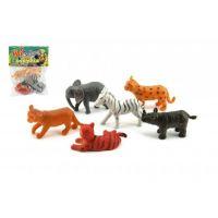 Zvířátka mláďata safari ZOO 6 ks