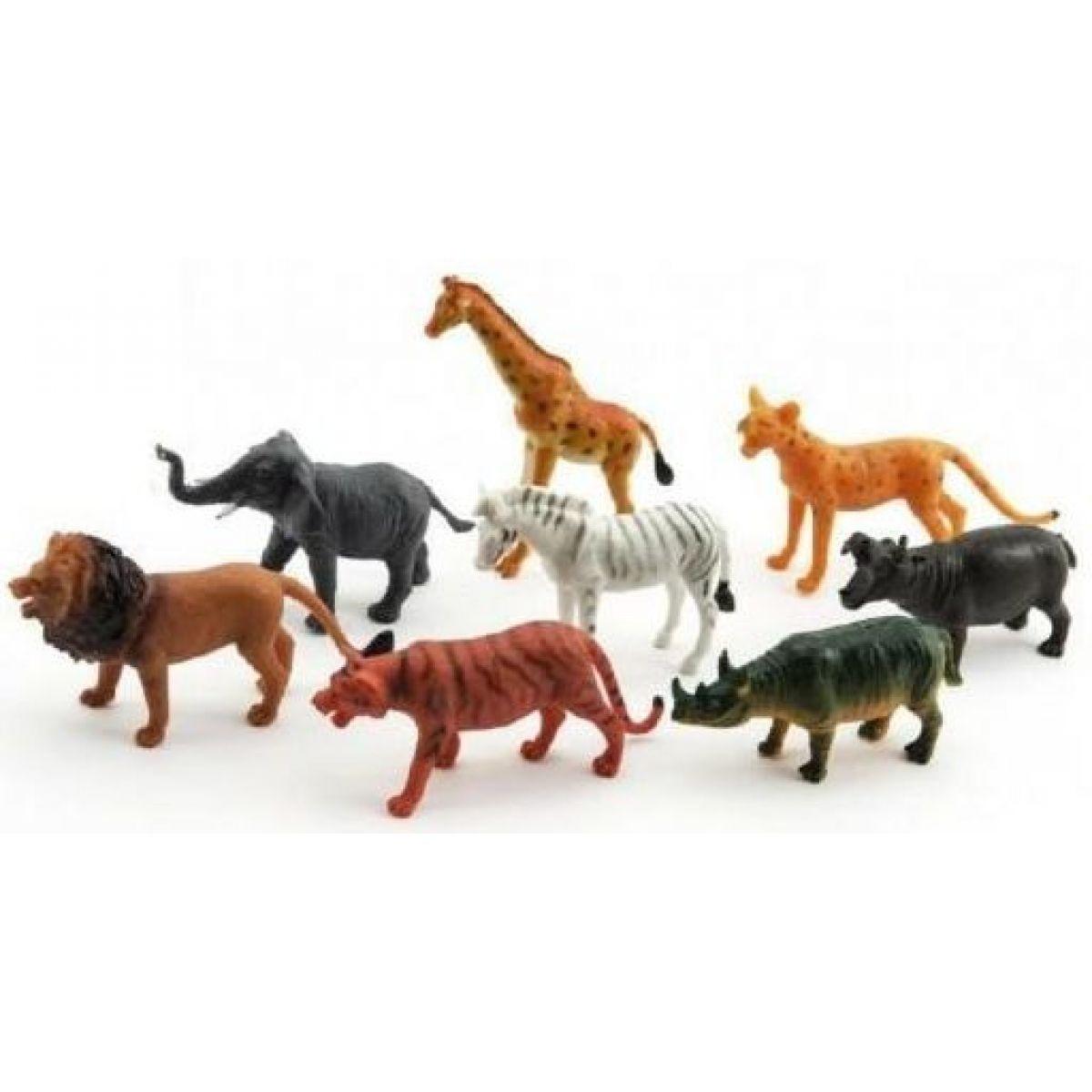 Teddies Zvieratká safari ZOO 8 ks