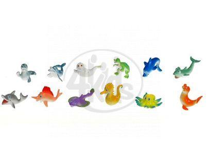 Zvířátka mořská veselá plast 5 cm 12 ks