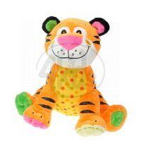Zvířátka plyšová 20cm sedící - Tygr