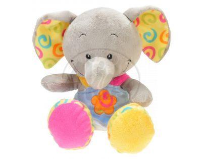Zvířátko plyšové v šatech 33cm - Slon