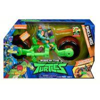 Teenage Mutant Ninja Turtles motorka s figurkou Michelangelo 6