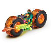 Teenage Mutant Ninja Turtles motorka s figurkou Michelangelo 2
