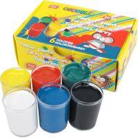Easyoffice Temperové barvy v kelímku 6 barev 20 ml