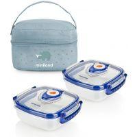 Miniland Termoizolační pouzdro a 2 hermetické misky na jídlo Blue
