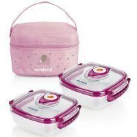 Miniland Termoizolační pouzdro a 2 hermetické misky na jídlo Pink