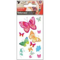 Anděl Tetovací obtisky 10,5 x 6 cm Motýli vodokresba