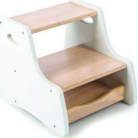 Tidlo Stolička s úložným prostorem bílá