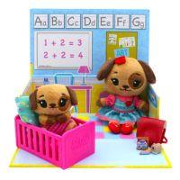 TM Toys Tiny Tukkins Hrací sada Škola a plyšová zvířátka Pejskové