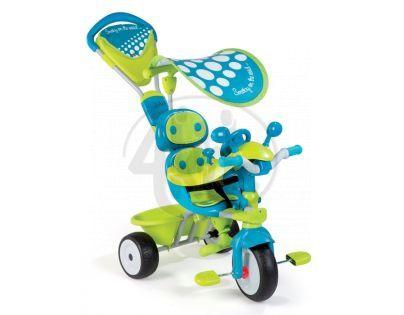Tříkolka Baby Driver Confort zelenomodrá Smoby 434105 - Poškozený obal