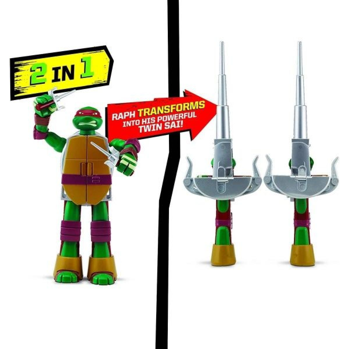 Playmates TMNT Želvy Ninja Transform to weapon Raphael